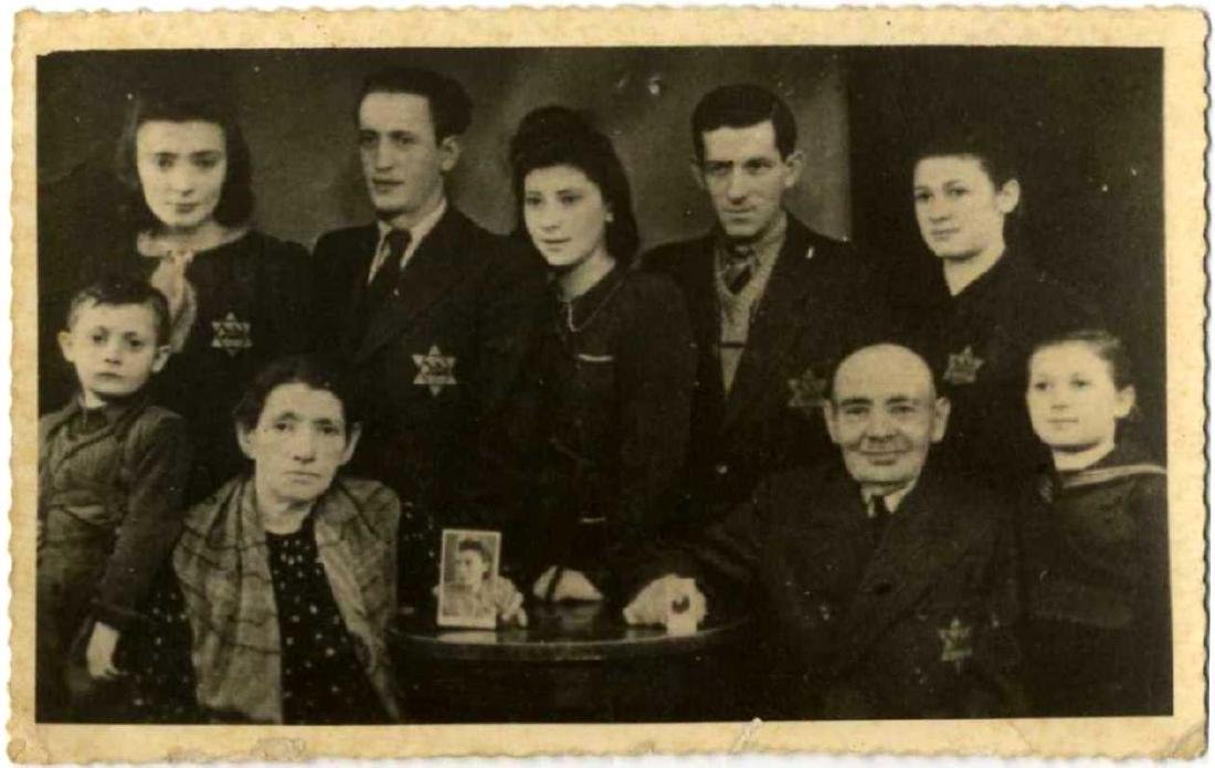 Joint Photograph of a Group of Jews with a Yellow Patch