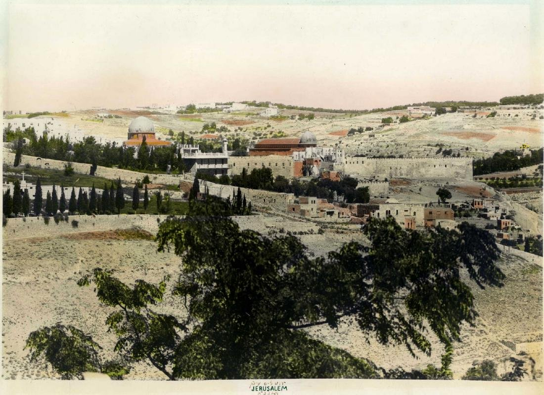 Large Photograph of the Temple Mount from the West, C.