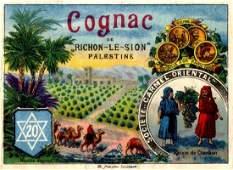 "Cognac Label for ""Carmel Mizrachi."" Monsohn Press,"