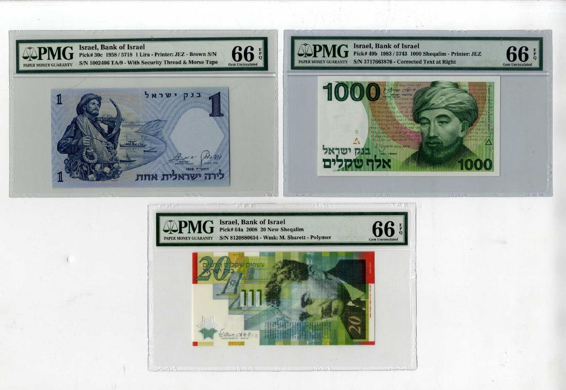 Five Banknotes Rated 66 by the PMG