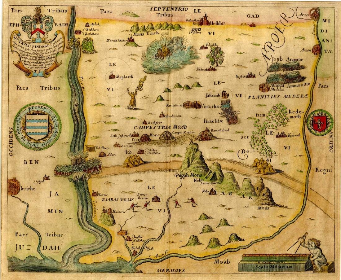 Map of the Inheritance of the Tribe of Ephraim -