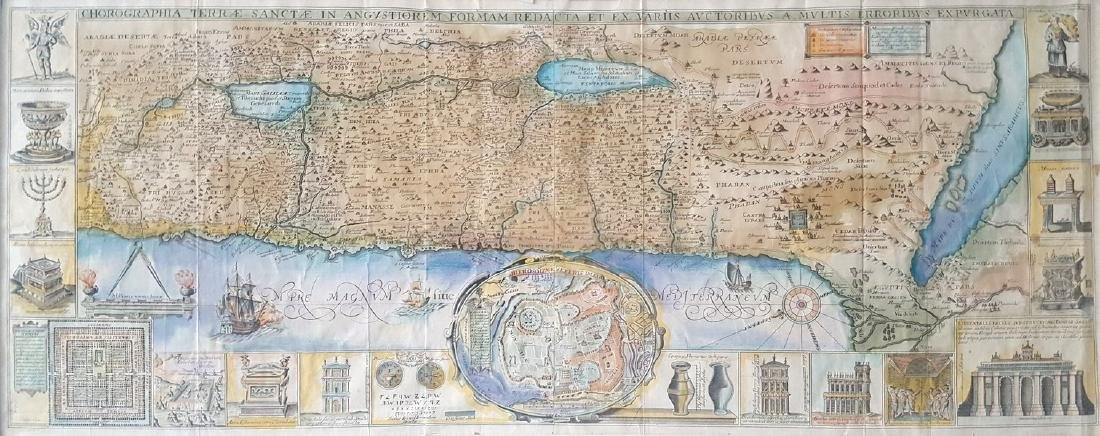 Map of the Land of Israel - Engraving - Venice, 1786