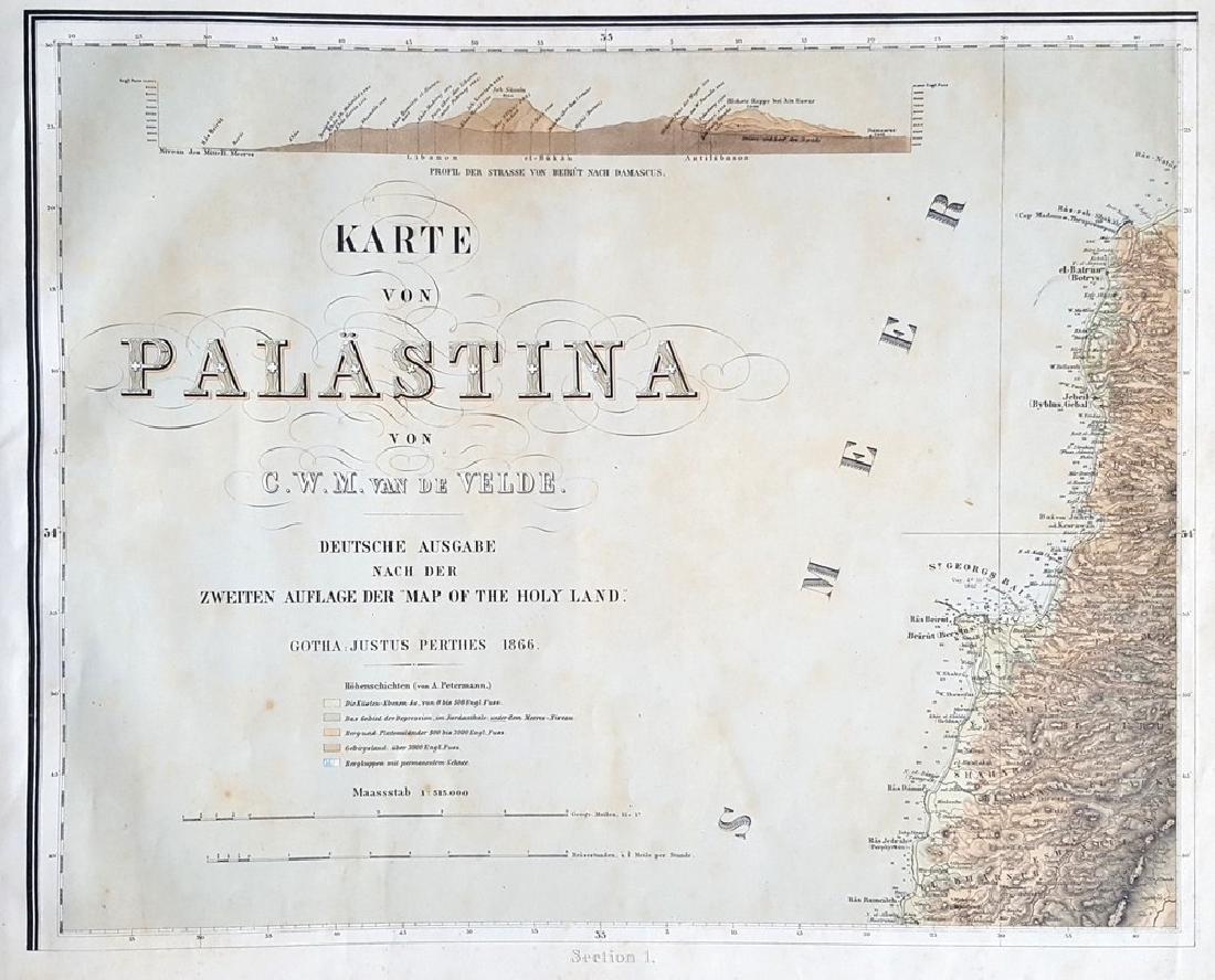 Charles Wilhem - Binder of Maps of the Holy Land.
