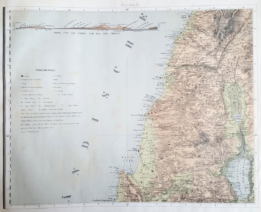 Charles Wilhem - Binder of Maps of the Holy Land. - 2