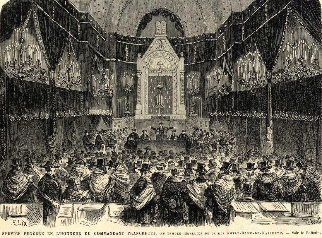 Six Prints of Engravings of the Interiors of Synagogues
