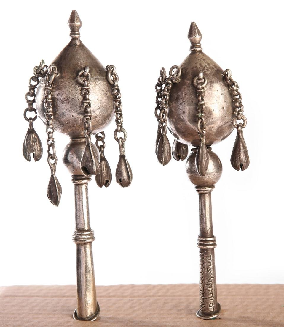 Pair of Silver Finials - Iraq. 19th Century [?]