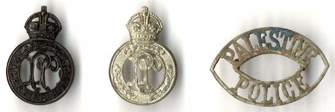 Three Insignia of the British Mandatory Police in the