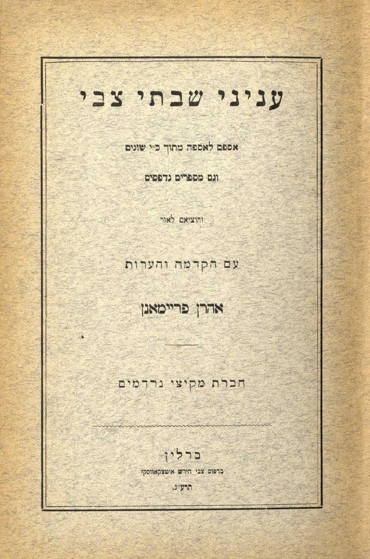 Large Collection of Jewish History Books and Works on