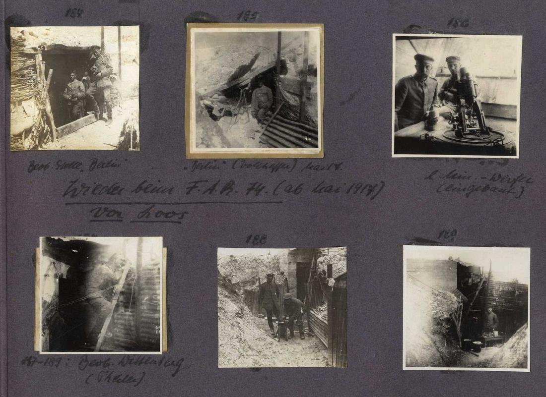 Three Albums with Photographs from WWI, Germany and - 5