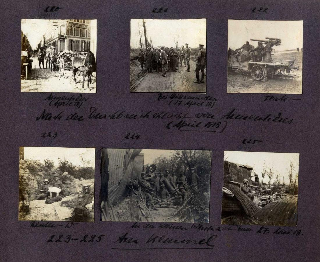 Three Albums with Photographs from WWI, Germany and - 6