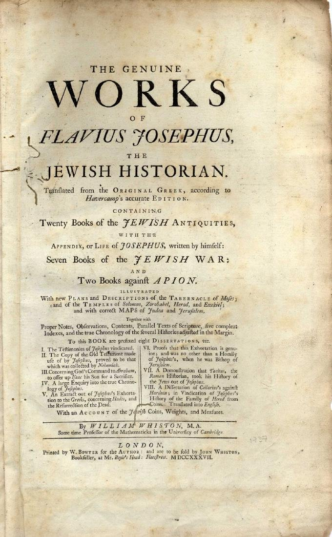 Josephus Flavius - Antiquities of the Jews. London 1737