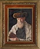 Jewish Rabbi, Oil on Wood. Otto Eichinger