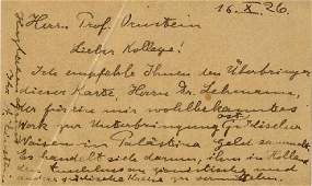 Letter of Recommendation from Professor Albert Einstein