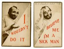 """Two Antisemitic """"Serial"""" Postcards. New York 1910"""