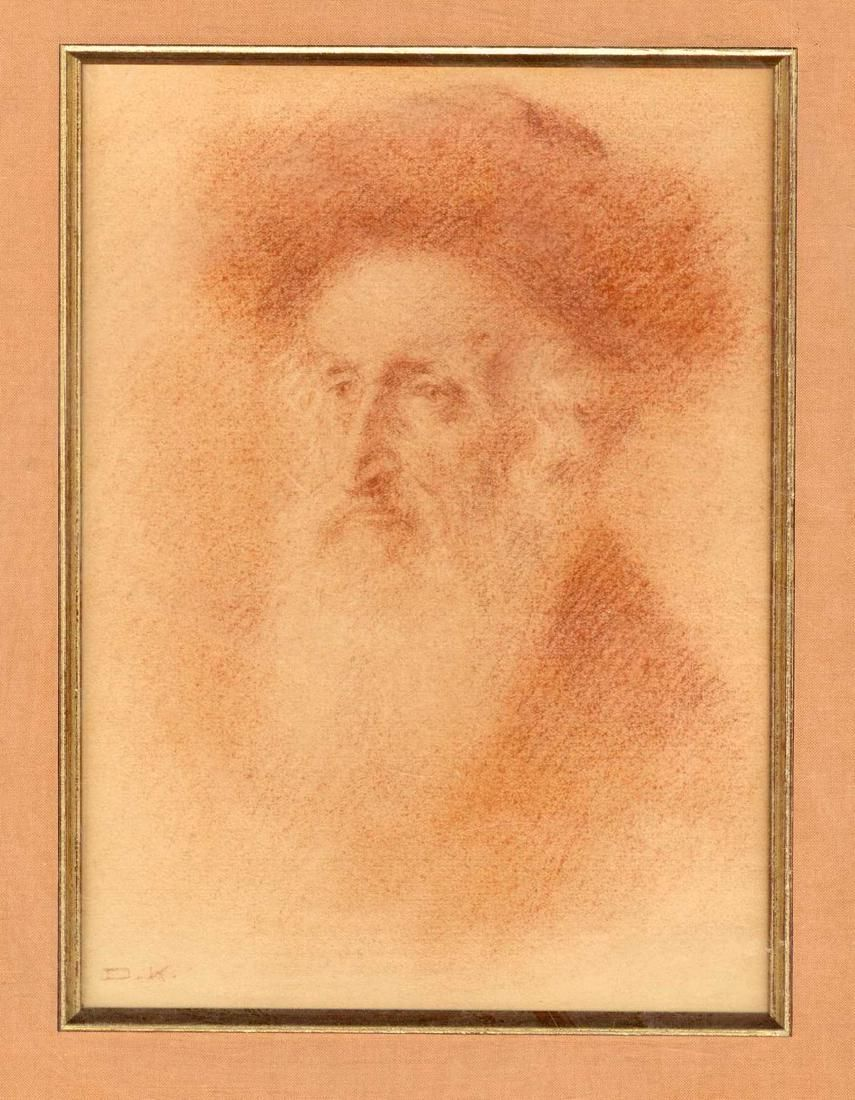Collection of Rabbinical Sketches. Charcoal on Paper.