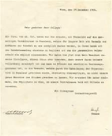 Letter from Theodore Herzl Regarding Zionist Activities