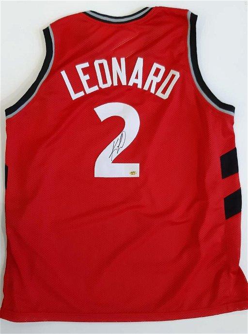 new arrival 626a7 6609b NBA Jersey Signed by Kawhi Leonard