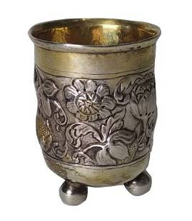 Decorative Silver Goblet France 18th19th Century