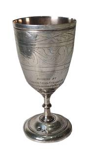 Silver Goblet for Kiddush with Etching 1958