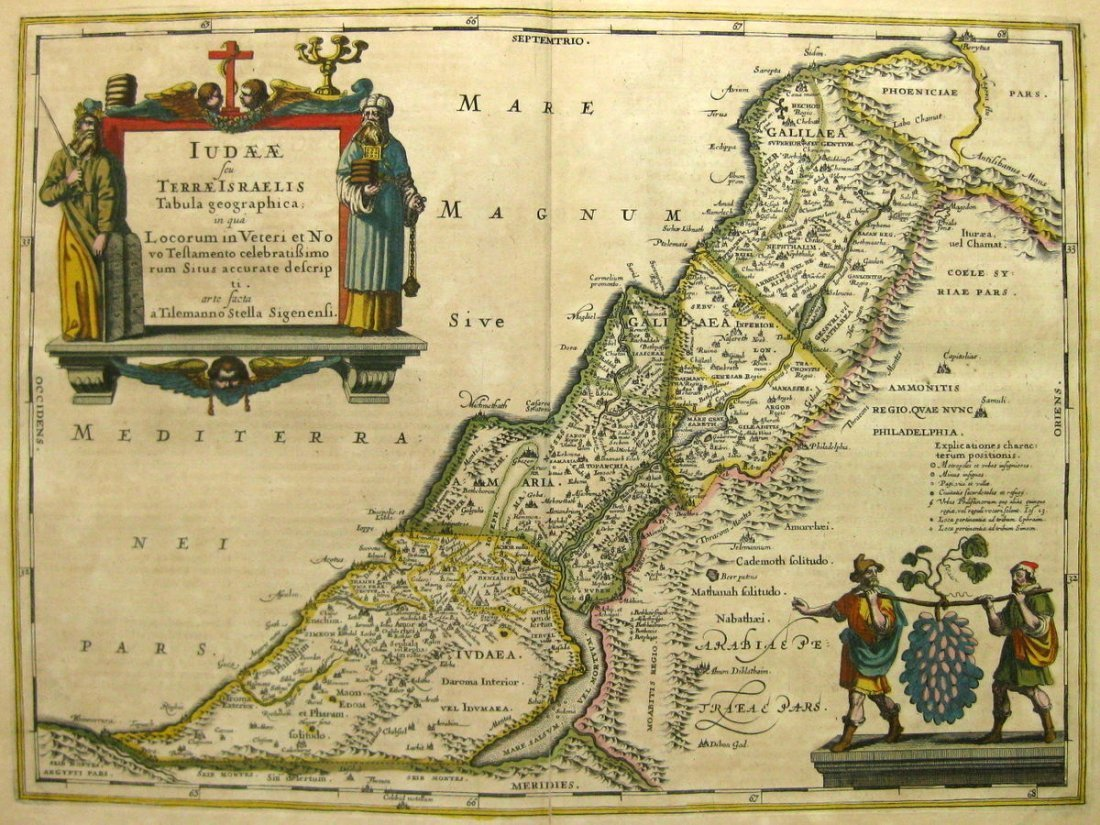 Map of the Holy Land. Tilemanno – Jan Jansson. The