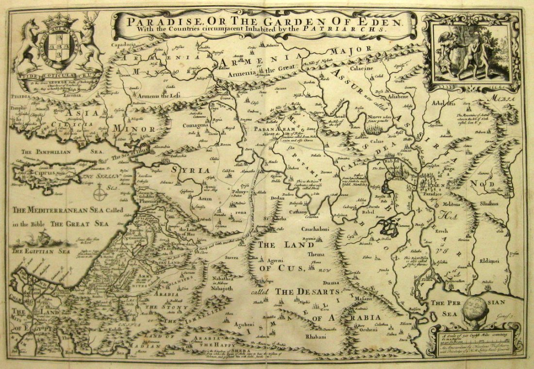 Map. The Holy Land and the Near East. Nocolas