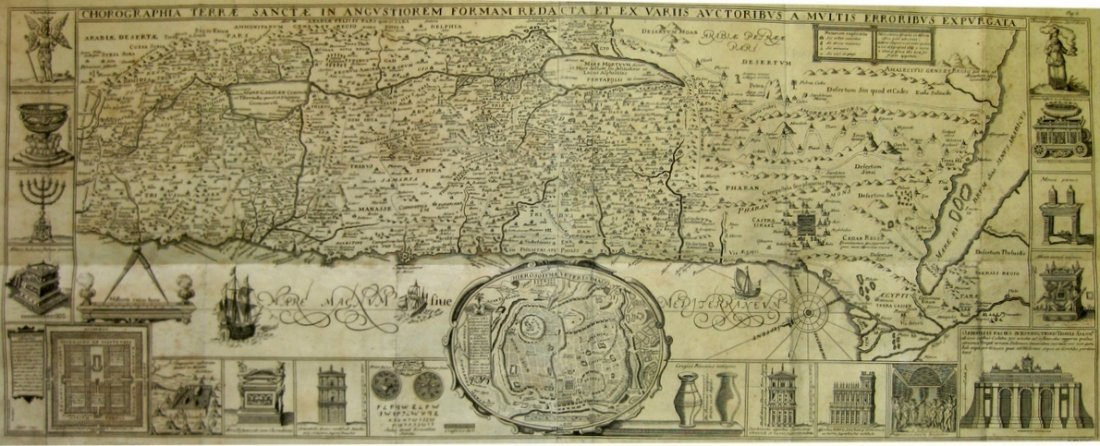 Map of the Holy Land in its Tribal Divisions. Tirinus