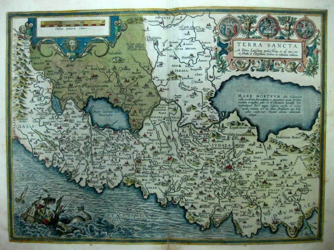 Map of the Holy Land. Ortelius. Antwerp, 1601.
