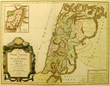 Map of the Holy Land Divided amongst the Twelve Tribes
