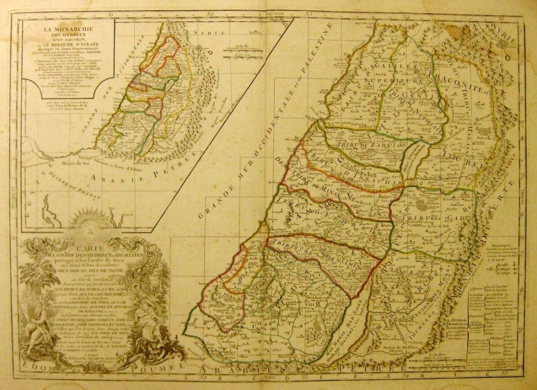 Map of The Holy Land. Robert de Vaugondy, Gilles,