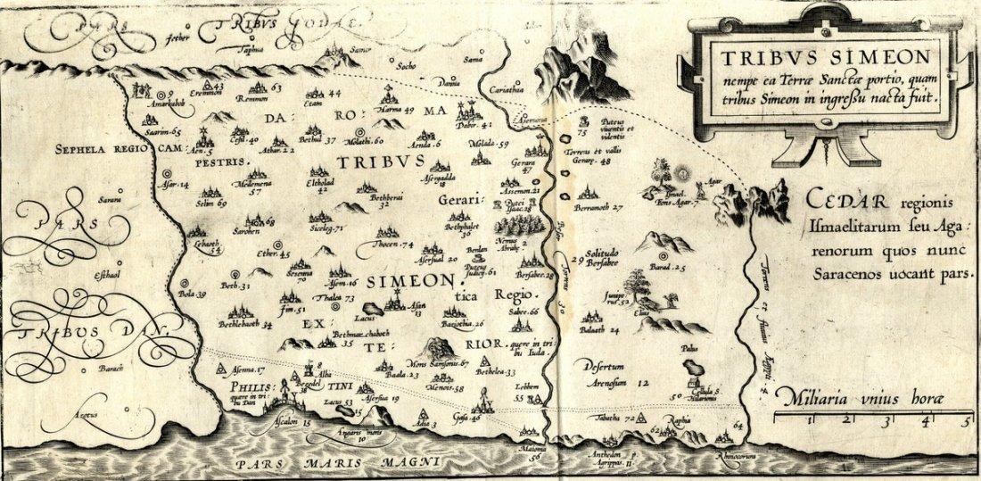 Maps. Christian van Adrichom. Theatrum Terrae Sanctae.