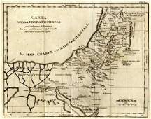 Map of the Holy Land Napoli 1783