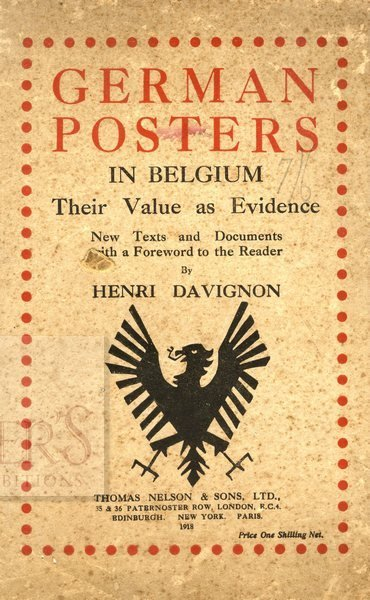 German Posters in Belgium. London, 1918