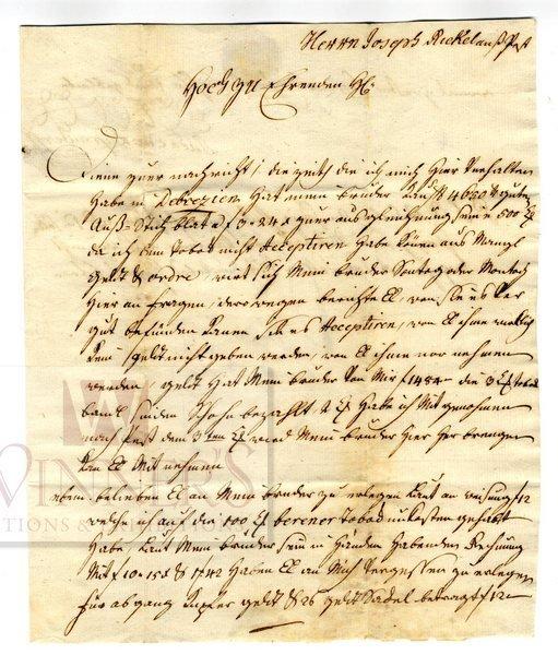 Business Letter. Jewish Tobacco Merchant.