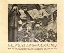 Anti-Nazi Postcard. Palestine, Holocaust c. 1943