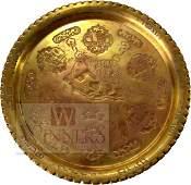 Passover Seder Plate. Copper. Israel, Declaration of