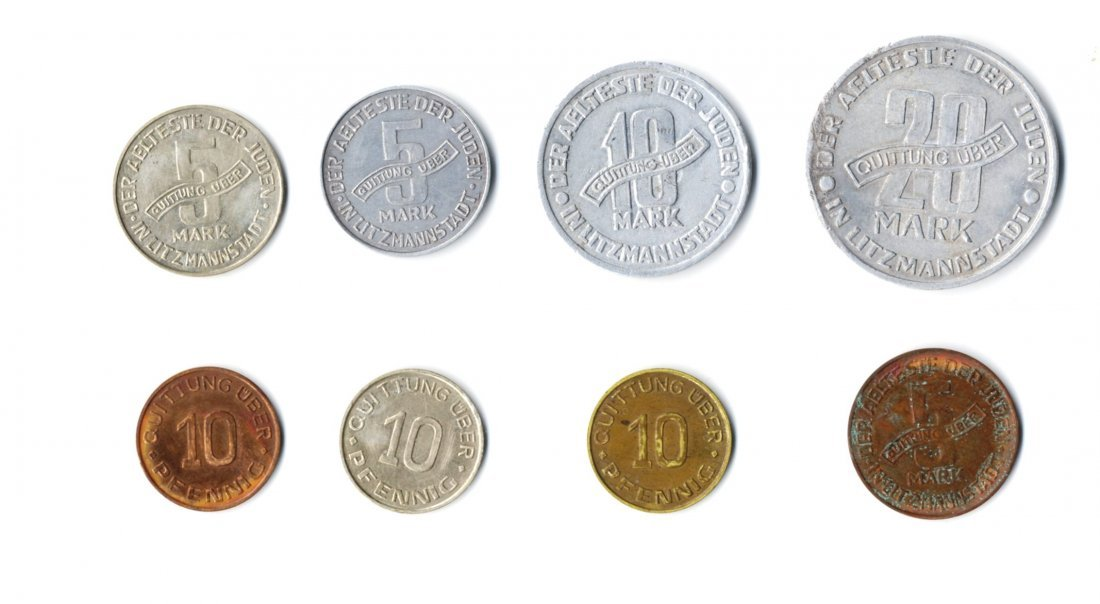 Coins from the Lodz Ghetto. [8]. 1942-1943