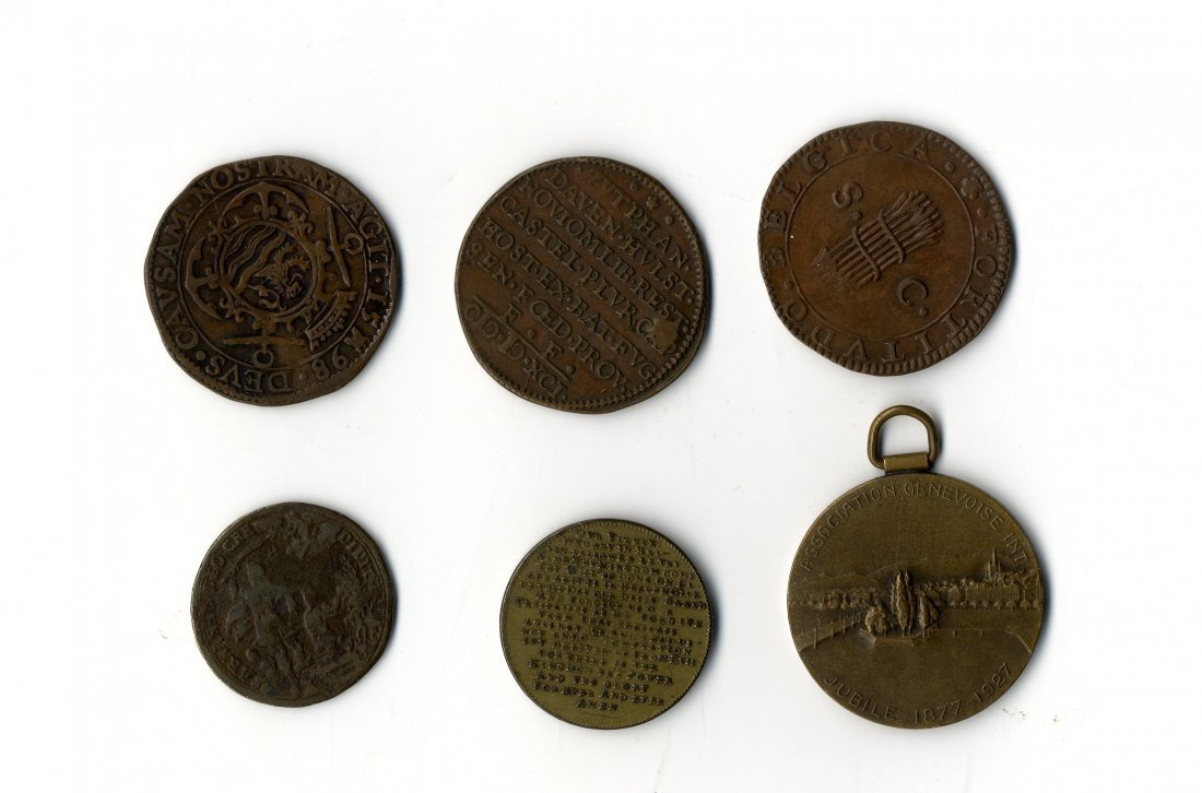 Collection of Jewish Coins [6]. England and Holland.