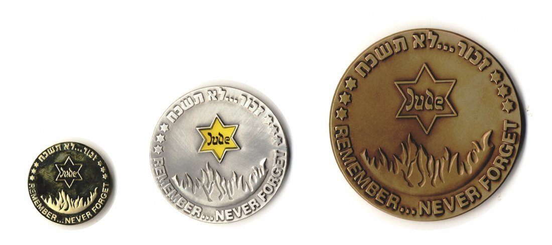 Medals Memorializing Holocaust Victims [3]. Silver,