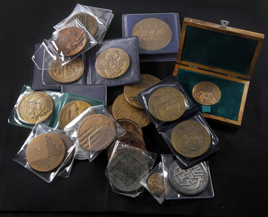 Medal Collection Related to the Holocaust, Zionism
