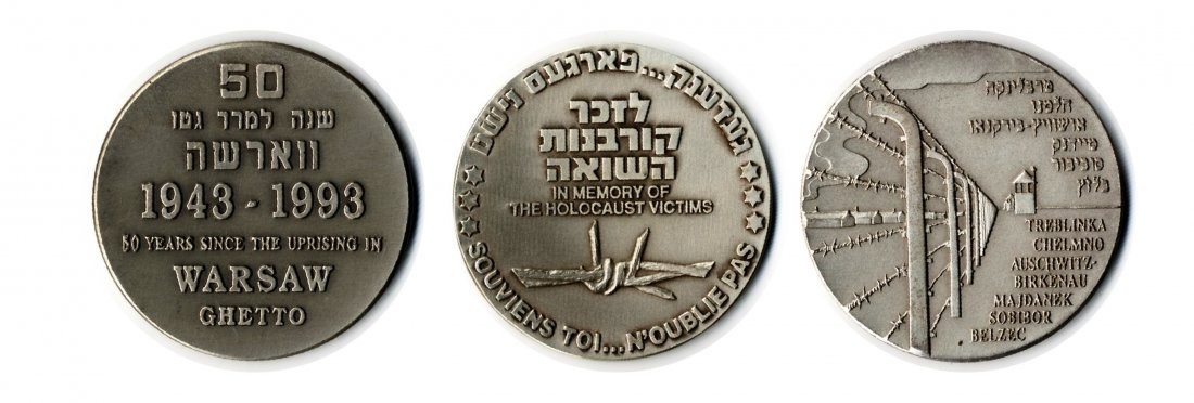 3  Silver Medals. Holocaust. 1992-1993