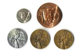 Holocaust Medal [5]. Bronze, Silver. Germany and Israel