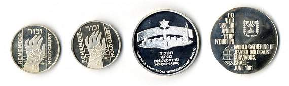 Holocaust Medals [7]. Silver. Israel, 1980s and 90s