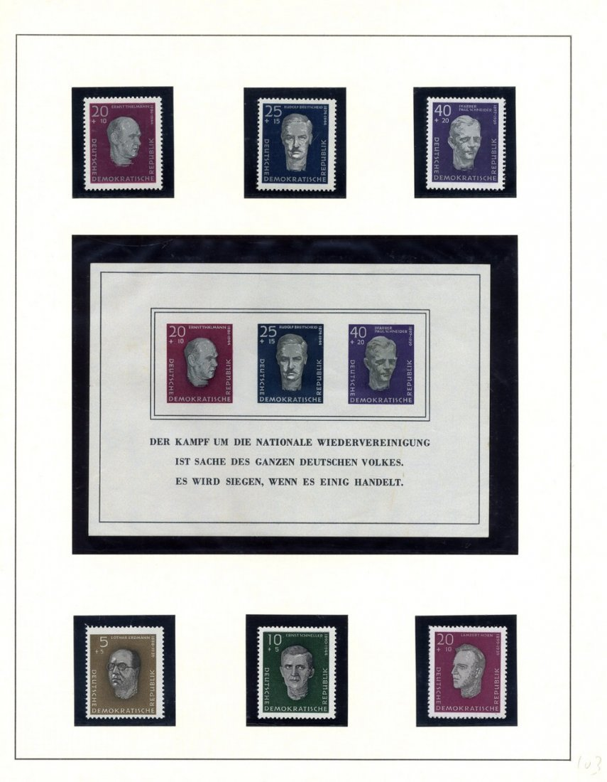 Collection of Holocaust Stamps. Europe.