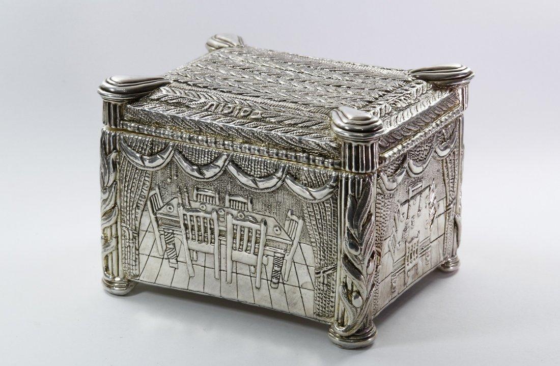 Etrog Box. Silver, Israel.