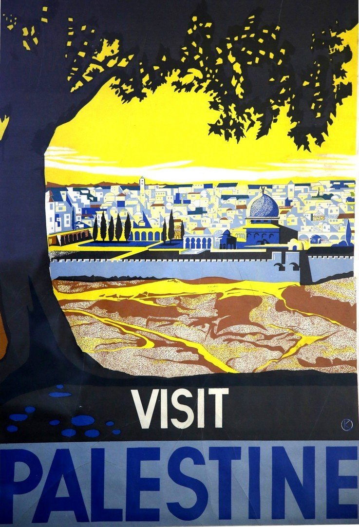 Poster. Visit Palestine. Franz Krausz, 1936
