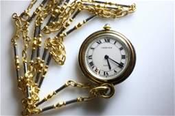 Cartier Pocket Watch 18K gold Original Cartier chain