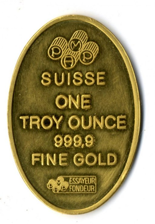 Suisse One Troy Ounce 999 9 Fine Gold