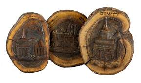 Olive wood carvings. Jerusalem sites. [3]. Jerusalem,
