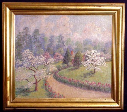 Dunaway Gardens Oil Painting by Actress Hetty Dunaway