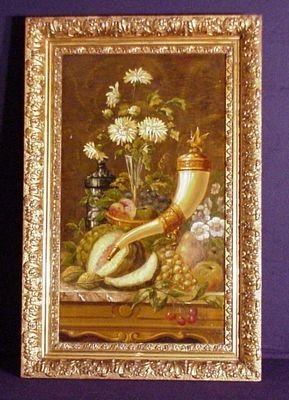 Still Life with Fruits and Flowers by F. Van Kerrkhoren